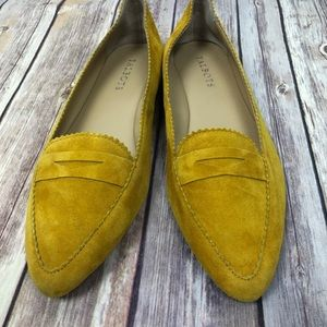 TALBOTS suede driving loafer